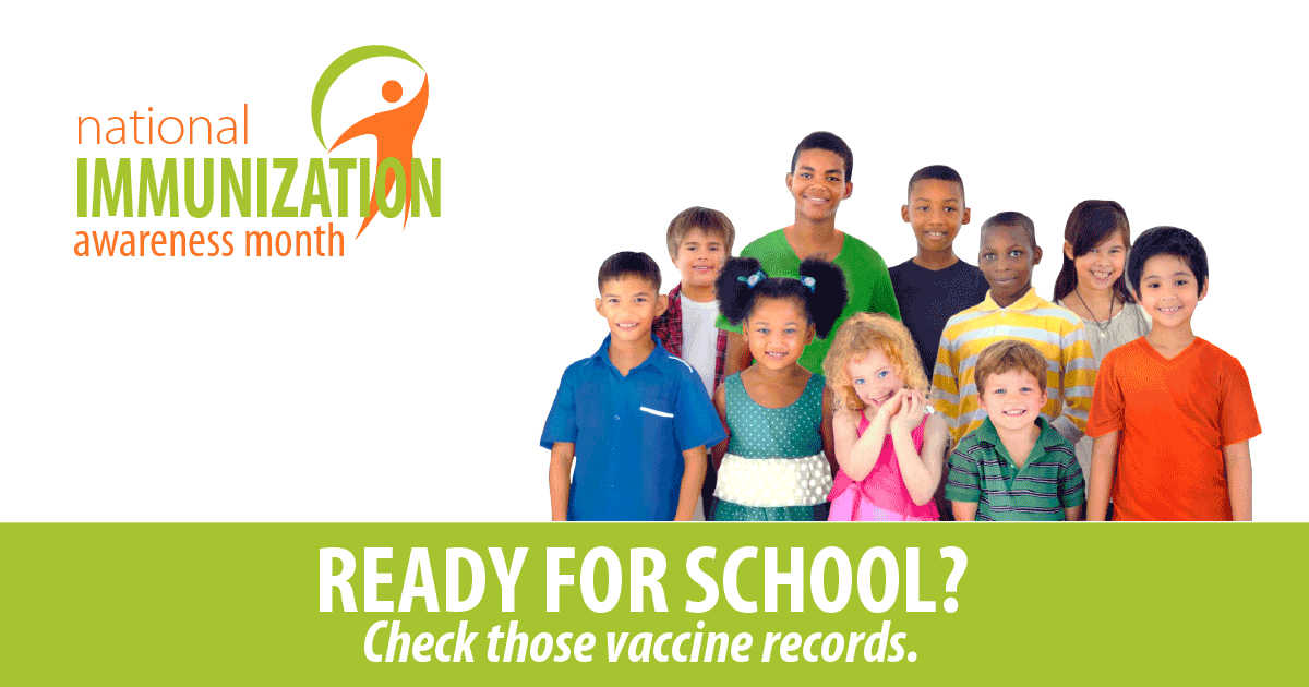 Ready for School?  Make Sure those Vaccine Records are Up to Date!